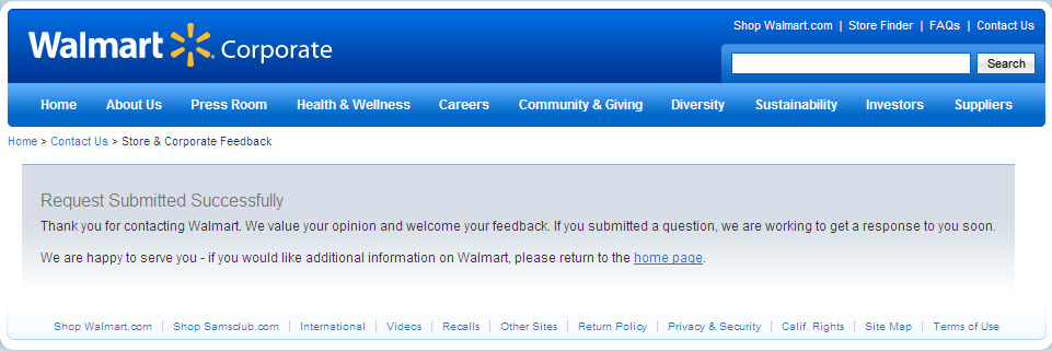 Walmart Corporate Contact >> Does Walmart Respond To Customer Complaints Through The Eyes Of