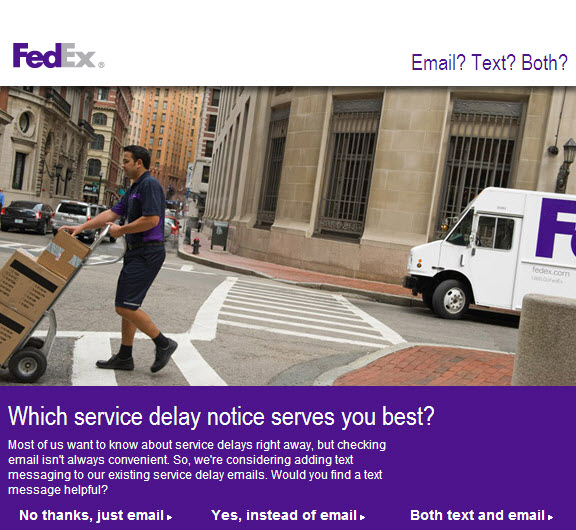 FED Ex email
