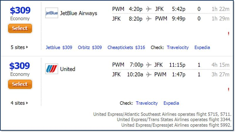 JetBlue United pricing