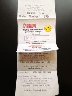DD receipt