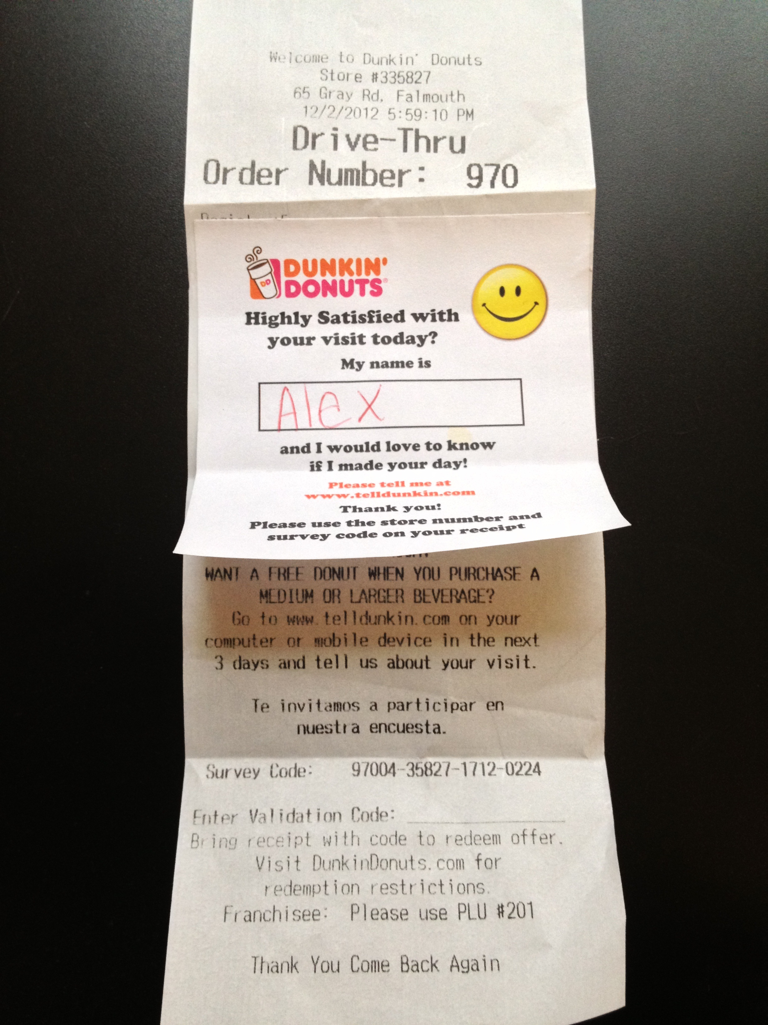 Dunkin Donuts Customer Satisfaction Survey Design is Hot and