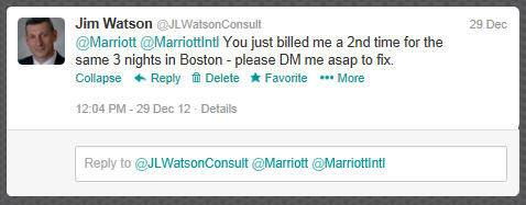 Marriott Tweet 1