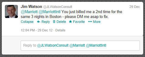 Marriott Tweet 1