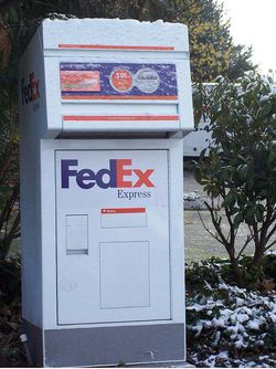 FedEx drop box frozen