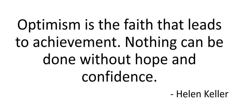 Optimism Confidence Helen Keller