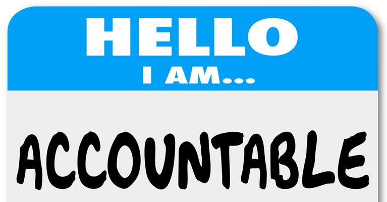 I'm accountable