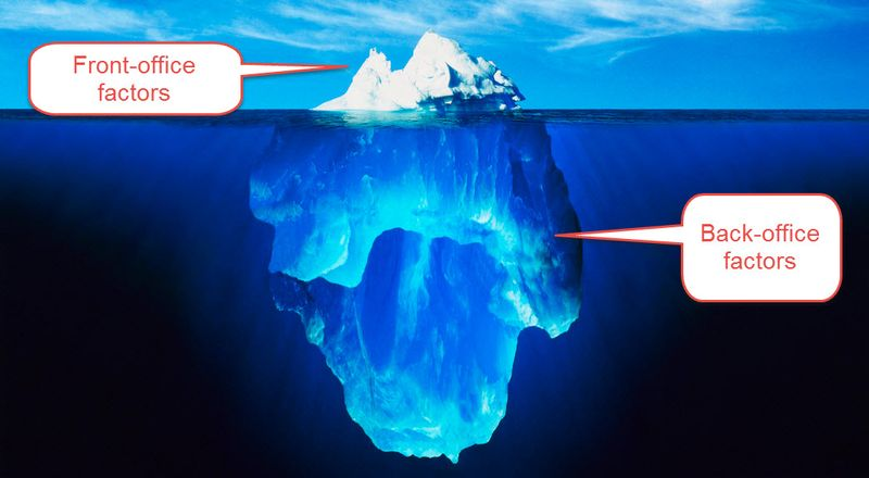 Front office is the tip of the experience iceberg