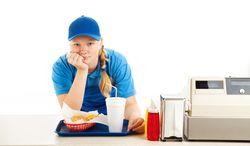 Unhappy mcdonalds employee