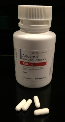 Alectinib Bottle and Capsules