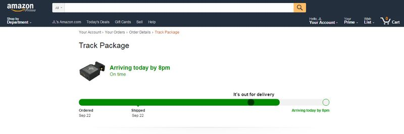 Visual Amazon Order Status